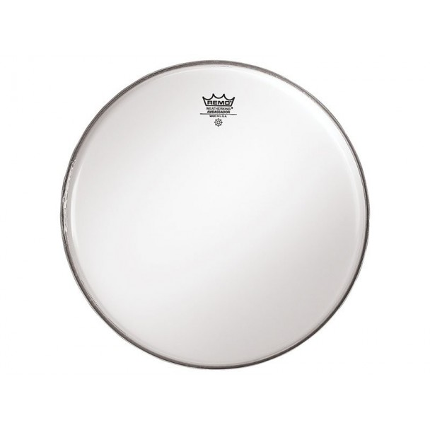 "Remo Ambassador 14"" Batter Smooth White"