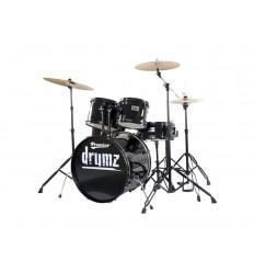Premier DRUMZZZ Stage 22 BLK Wrap Rock Kit