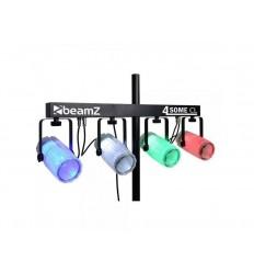 Beamz Clear 4x 57 RGBW LEDs DMX