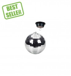 Beamz Mirrorball with motor, plain, 20cm