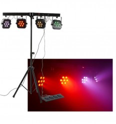 Beamz PARBAR 4-Way Kit 7x 10W Quad LEDs DMX