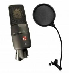 SE ELECTRONICS X1 MICROFON DE STUDIO + OMNITRONIC DSH-135 POP FILTRU DUAL
