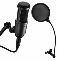 AUDIO TECHNICA AT2020 + OMNITRONIC DSH-135 POP FILTRU DUAL