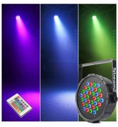 Beamz FlatPAR 36x 1W RGB LEDs DMX IRC