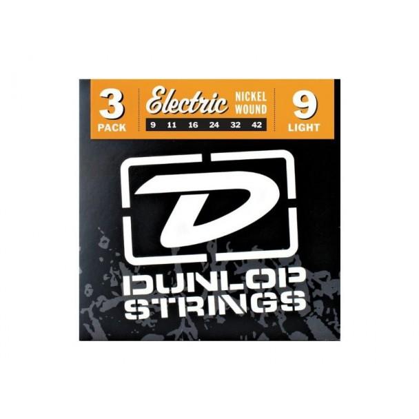 Dunlop Nickel Wound 9 Light 3 Pack 3PDEN0942