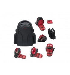 Magma Digi Backpack, black/red