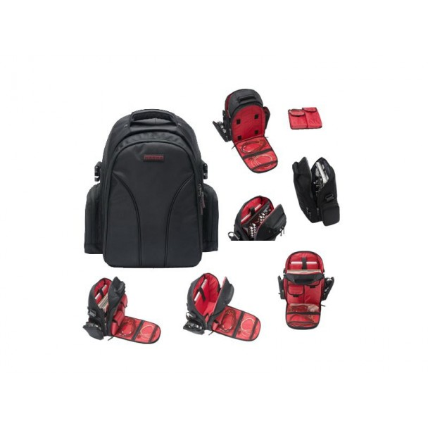 Magma Digi Backpack, black/red