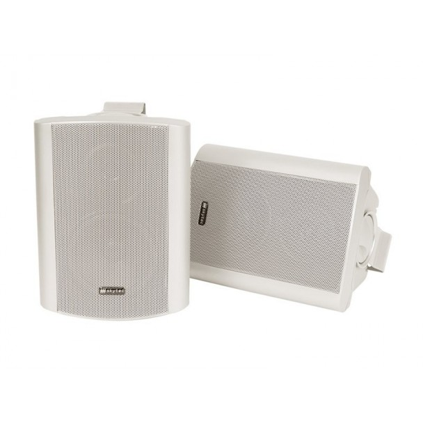 SkyTec Amplified 2-way speaker set WH
