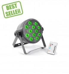 Beamz FlatPAR 12 x 3W Tri-color LEDs DMX IR