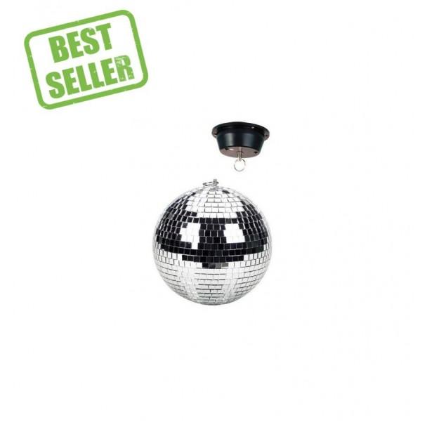 Beamz Mirrorball with motor, plain, 20cm