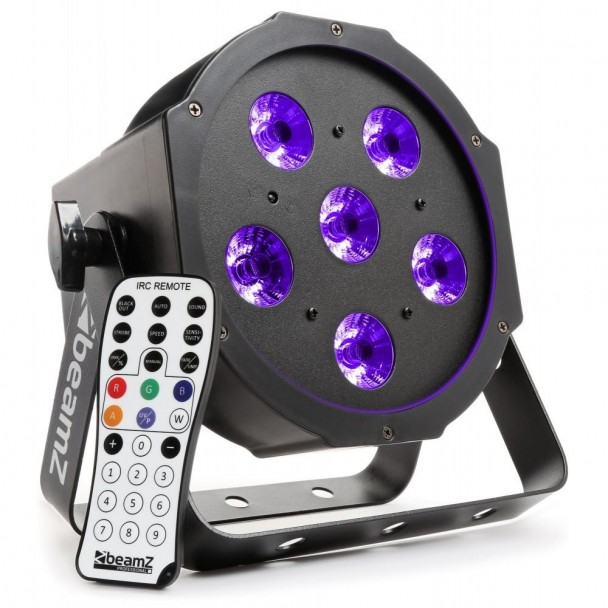 Beamz BFP130 FlatPAR 6x 6W UV LED