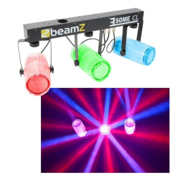 Beamz 3x57 RGBW LEDs Clear