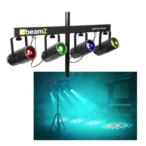 Beamz 4x 57 RGBW LED DMX