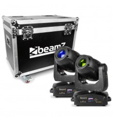 Beamz 2x IGNITE180 Spot LED Moving Head & Flightcase