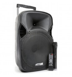 "Max P12BT Portable Sound System 12"" BT/MP3/USB/SD/VHF/IRC"