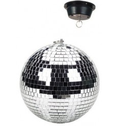 Beamz Mirrorball with motor, plain, 30cm