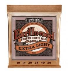 Ernie Ball 2150 EARTHWOOD PHOSPHOR BRONZE EXTRA LIGHT 10-50
