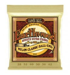 Ernie Ball 2069 EARTHWOOD FOLK NYLON CLEAR&GOLD BALL END