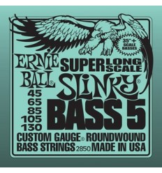 Ernie Ball 2850 NICKEL WOUND SUPER LONG SCALE 5 STRING SLINKY 45-130