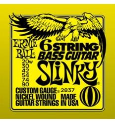Ernie Ball 2837 NICKEL WOUND 6 STRING BASS GUITAR SLINKY 20-90