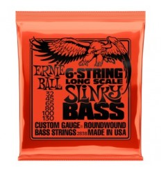 Ernie Ball 2838 NICKEL WOUND 6 STRING SLINKY LONG SCALE BASS 32-130