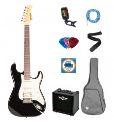 Prodipe Guitars Electric ST83RA BK SET 11 ani/adult