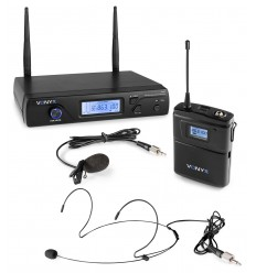 Vonyx WM61B Microfon Wireless UHF 16C + Bodypack