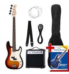 Rocktile Groover PB E-Bass SET Sunburst