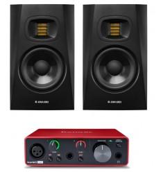 Pachete Zeedo Shop 2 x ADAM Audio T5V + Focusrite Scarlett Solo 3rd Gen