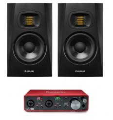 Pachete Zeedo Shop 2 x ADAM Audio T5V + Focusrite Scarlett 2i2 3rd Gen