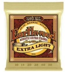 Ernie Ball 2006 EARTHWOOD BRONZE EXTRA LIGHT 10-50